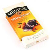 """Шоколад """"MELANIE"""" молочный с цельным миндалем, 100 г."""
