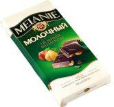 "Шоколад ""MELANIE"" молочный  с цельным фундуком, 100 г."