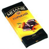 "Шоколад Горький ""MELANIE"" с цельным миндалем, 100 г."