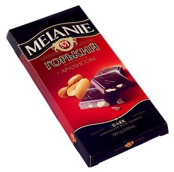 "Шоколад горький ""MELANIE"" с арахисом, 100 г."
