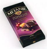 """Шоколад горький """"MELANIE"""" с изюмом и арахисом, 100 г."""
