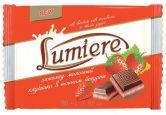"""Шоколад молочный """"Lumiere клубника в нежном йогурте"""", 80 г."""