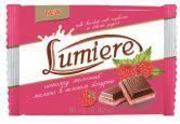 """Шоколад молочный """"Lumiere малина в нежном йогурте"""", 80 г."""
